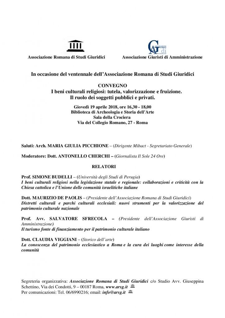 Convegno 19 aprile 2018 - ROMA